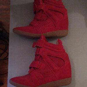 Steve Madden Hiilight Red Platform Sneaker - Nwob